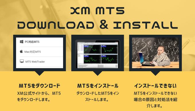 XMのMT5をダウンロードしてインストールする方法