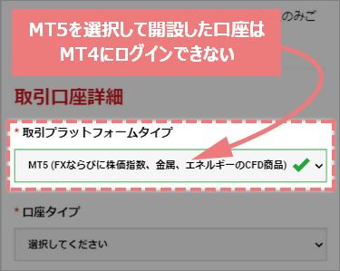 MT4の記載があるスマホのメール