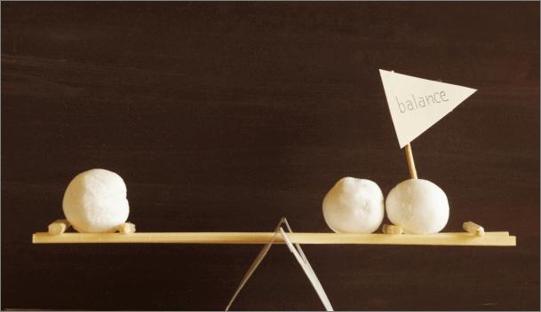 レバレッジとリスクのバランスのイメージ