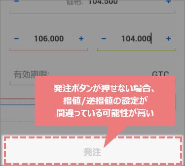 MT4スマホアプリの発注ボタンが押せない